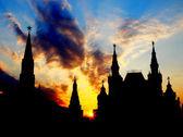 Sunset above Moscow Kremlin — Stock fotografie
