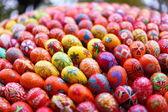 Paskalya yumurtaları yatay — Stok fotoğraf