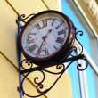 Outdoor analog wall clock — Foto Stock
