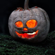 Terrible halloween pumpkin — Stock Photo