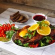 Roasted duck with orange — Stock Photo