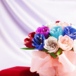 Flowers and velvet box — Stock Photo #32842273