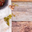 Mortar and Pestle with Spices — Stock Photo