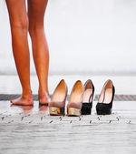 Woman's shoes high heels — Foto Stock