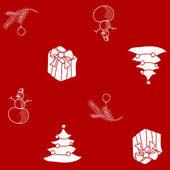 Vánoční vzor bezešvé — Stock vektor