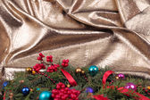 Christmas wreath branches — Stock Photo