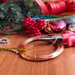 Stock Photo: DIY christmas wreath