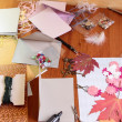 Stock Photo: Art background with scrapbooking elements