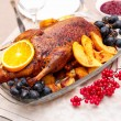 Roast duck with orange — Stock Photo #37254181