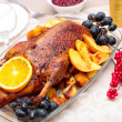 Roast duck with orange — Stock Photo #37254229
