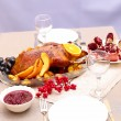 Roast duck with orange — Stock Photo