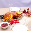 Roast duck with orange — Stock Photo #37254411