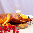 Roast duck with orange — Stock Photo #37254429