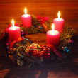 Foto de Stock  : Advent wreath with four candles