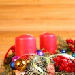 Advent wreath with four candles — Foto de Stock