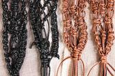 Macrame belts — Stock Photo