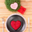 Stock Photo: Valentine day menu