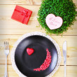Stockfoto: Valentine day menu