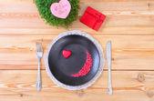 Valentine day menu — Stock Photo