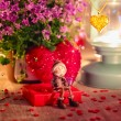 Valentine greeting card - rendezvous — Stock Photo #39243567