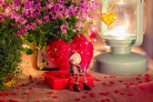 Valentine greeting card - rendezvous — Foto Stock