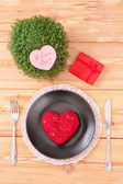 Valentine day menu — Stock Photo