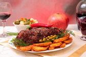 Appetizing roasted fillet of pork — Stock Photo