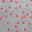 Linen canvas with little red hearts — Stockfoto #39471763