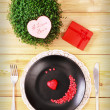 Valentine day menu — Stockfoto #39471929