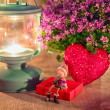 Stock Photo: Valentine greeting card - rendezvous