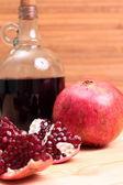 Wine and garnet — Stock Photo
