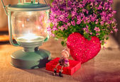 Valentine greeting card - rendezvous — Stock Photo