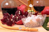 Hookah, wine and sweets — Stock Photo
