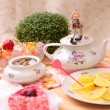 Warm cup of teand sweets — Stockfoto #41160469