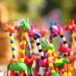 KRASNODAR, RUSSIA - SEPTEMBER 28 - Fun homemade giraffe figurines at the fair, Krasnodar city day on 28, September in Krasnodar — Stock Photo