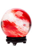 Red crystal ball on the stand — Stock Photo