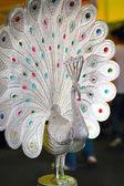 Figurina di pavone in ottone da india — Foto Stock