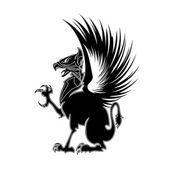 Griffin heraldry 1 — Stock Vector