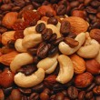 Stock Photo: Coffee and nuts