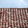 Old tiles on the roof — Stock Photo