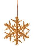 Gold snowflake — Stock Photo