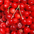 Cherries background — Stock Photo