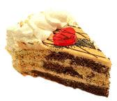 Cake on white background — Stock Photo