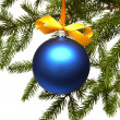 Christmas tree and ball  — Stock Photo