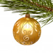 Christmas tree and ball — Stock Photo #35075795