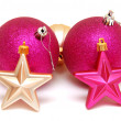 Christmas balls and stars — Stockfoto