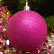 Stock Photo: Christmas ball on the Christmas tree