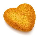 Golden christmas heart — Stock Photo