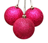 Three christmas balls — Stock Photo