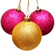 Three christmas balls — Stock Photo #37099751